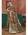 Multi Colour Banarasi Cotton Silk Designer Saree
