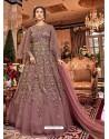 Light Pink Soft Net Party Wear Anarkali Suit
