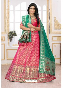 Desirable Rani Silk Jacquard Designer Lehenga Choli