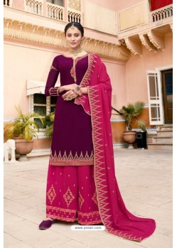 Violet And Rani Soft Georgette Embroidered Palazzo Suit