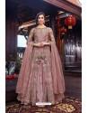 Pink Premium Net Designer Anarkali Suit