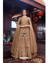 Camel Premium Net Designer Anarkali Suit