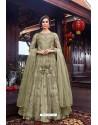 Green Premium Net Designer Anarkali Suit