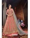 Pink Butterfly Net Designer Anarkali Suit