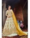 Sea Green Butterfly Net Designer Anarkali Suit