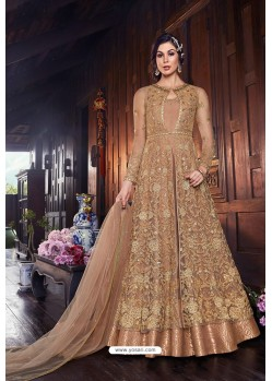 Old Rose Butterfly Net Designer Anarkali Suit