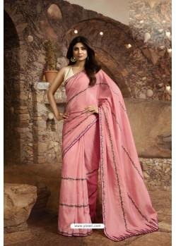 Pink Barfi Silk Designer Saree
