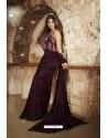Deep Wine Barfi Silk Designer Saree