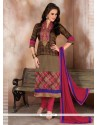 Lustrous Raw Silk Churidar Designer Suit