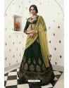 Dark Green Silk Embroidered Designer Lehenga Choli