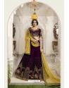 Purple Silk Embroidered Designer Lehenga Choli