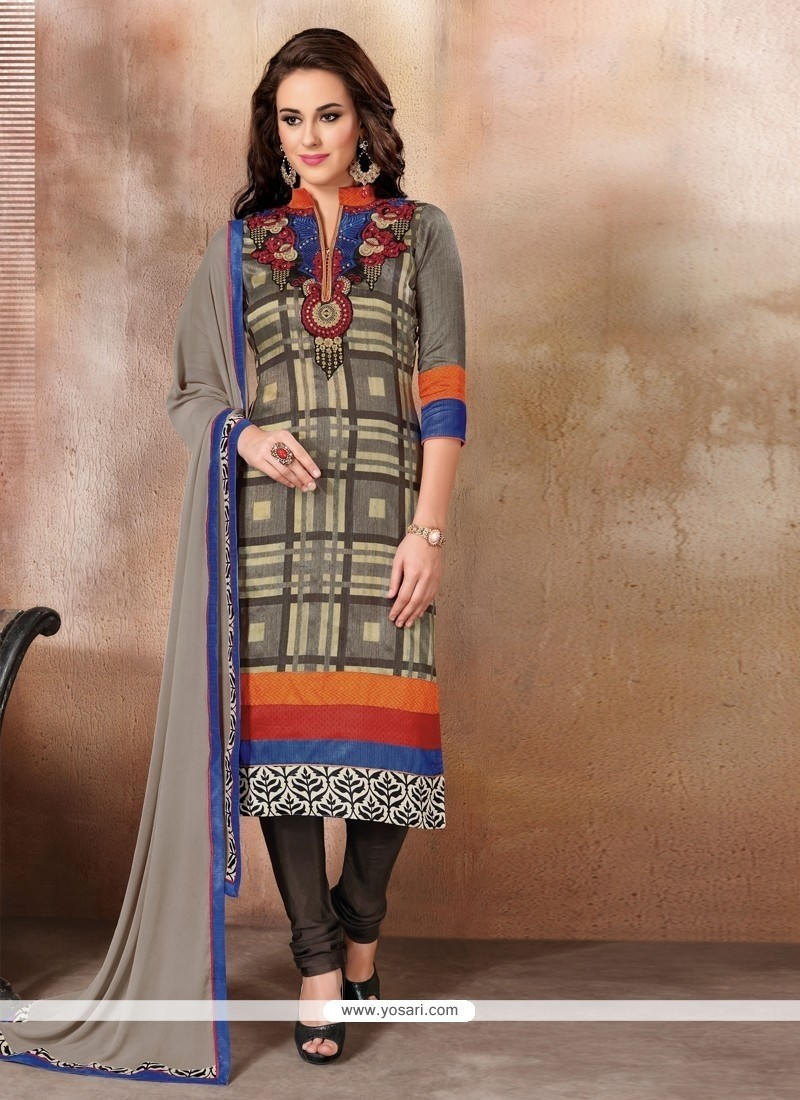 Strange Multi Colour Churidar Designer Suit