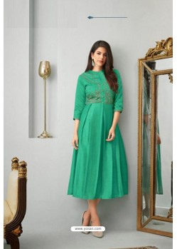 Jade Green Heavy Cotton Readymade Kurti