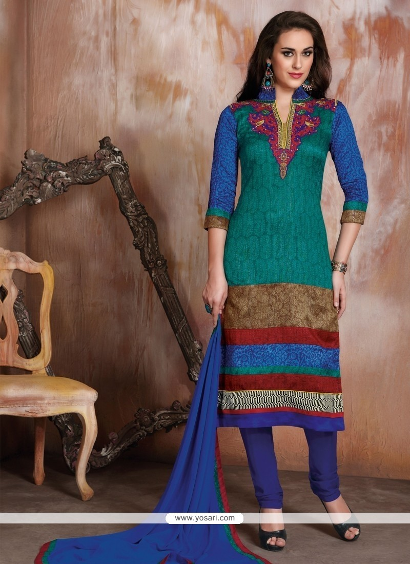 Magnetize Multi Colour Churidar Designer Suit