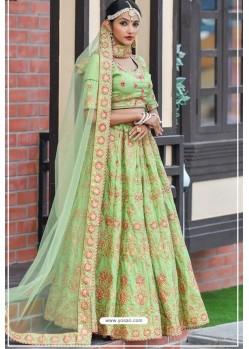 Green Chennai Silk Designer Lehenga Choli