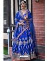 Royal Blue Chennai Silk Designer Lehenga Choli