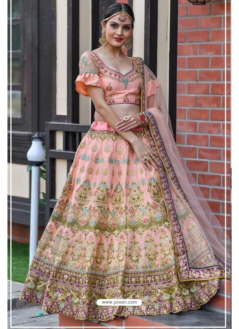 Pink Chennai Silk Designer Lehenga Choli