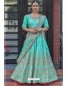 Sky Blue Chennai Silk Designer Lehenga Choli