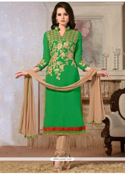 Majesty Georgette Lace Work Churidar Designer Suit