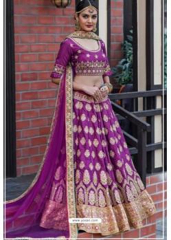 Purple Chennai Silk Designer Lehenga Choli