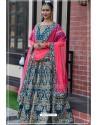 Teal Blue Chennai Silk Designer Lehenga Choli