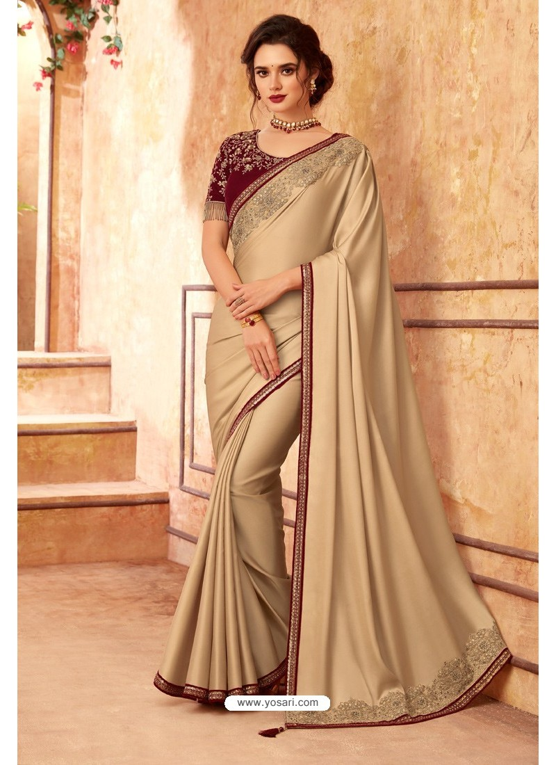 Gold Sabya Silk Designer Saree