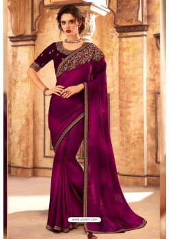 Purple Highlight Silk Designer Saree