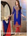 Superlative Georgette Embroidered Work Churidar Salwar Suit