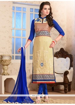 Marvelous Resham Work Georgette Churidar Salwar Kameez