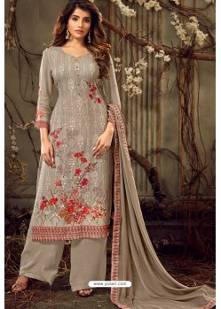 Light Brown Viscose Georgette Party Wear Palazzo Suit