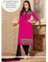 Dashing Georgette Lace Work Churidar Salwar Kameez
