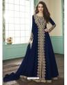Navy Blue Georgette Designer Anarkali Suit