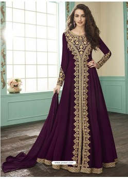Purple Georgette Designer Anarkali Suit