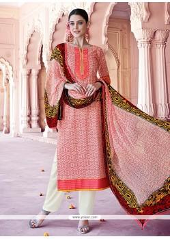 Savory Peach Designer Pakistani Salwar Suit