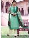 Breathtaking Print Work Cotton Pakistani Suit