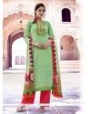 Sea Green Cotton Designer Pakistani Suit