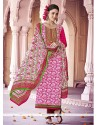 Hot Pink Cotton Pakistani Suit