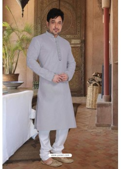 Grey Cotton Kurta Pajama