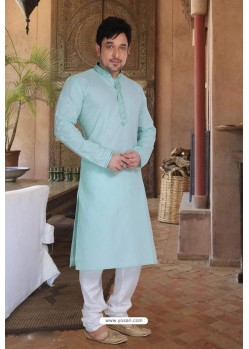 Sky Blue Cotton Kurta Pajama