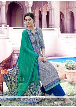 Zesty Print Work Designer Pakistani Suit