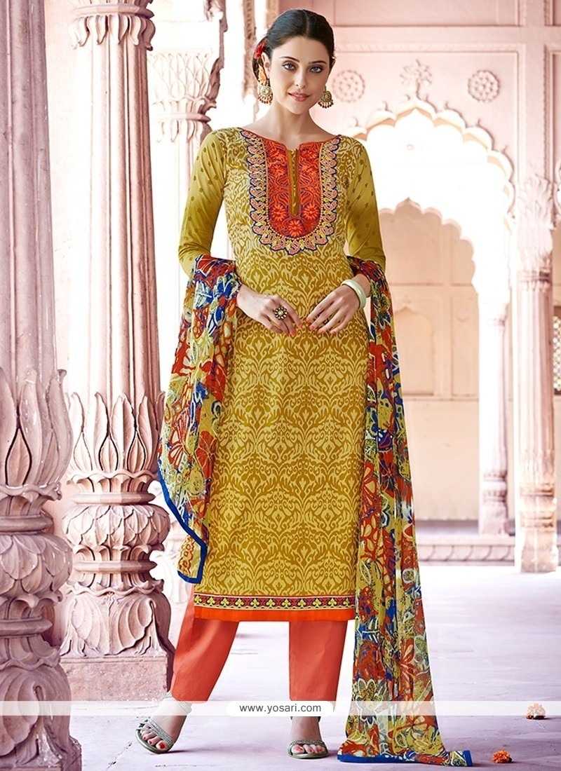 Latest Cotton Print Work Designer Pakistani Suit