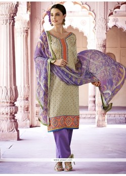 Thrilling Lace Work Cotton Designer Pakistani Salwar Suit