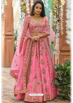 Light Pink Chennai Silk Designer Lehenga Choli