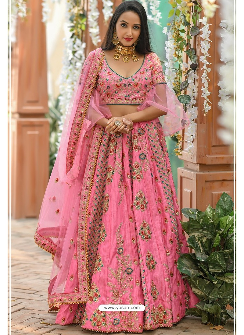 Light Pink Chennai Silk Designer Lehenga Choli