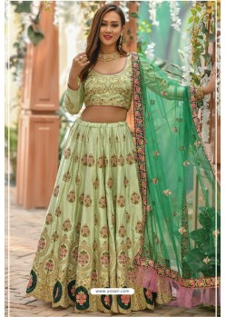 Green Adda Silk Designer Lehenga Choli