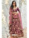 Deep Wine Chennai Silk Designer Lehenga Choli