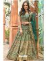 Dark Green Phantom Silk Designer Lehenga Choli