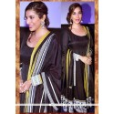Glamorous Pure Georgette Black Patch Border Work Anarkali Salwar Kameez
