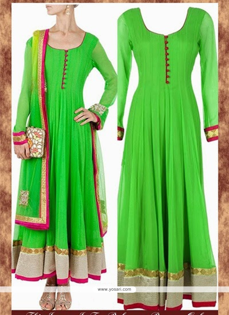 Superb Pure Georgette Anarkali Salwar Suit