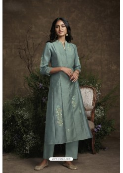 Grey Berry Silk Designer Kurti